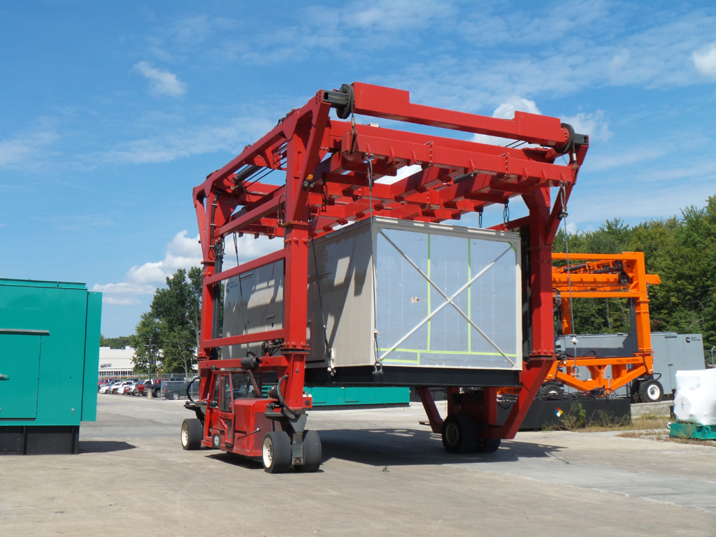 Red Straddle Carrier